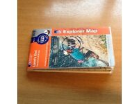 Ordnance Survey Map.Lands End,Penzance & St Ives Explorer Active Map.1:25000 scale