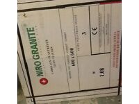 Two boxes of large white porcelain tiles 600 x 600 2.16m2
