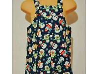 Snowman baby dungarees 6-9 months hsndmade