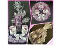 Henna Mendhi Candles Personalised for Weddings Parties Christmas Valentines Easter Eid & many more!