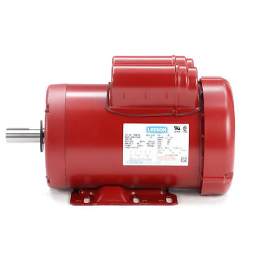 110090.00 2hp Leeson Electric Motor Tefc 1725rpm 145t 1ph 208-230v 110090