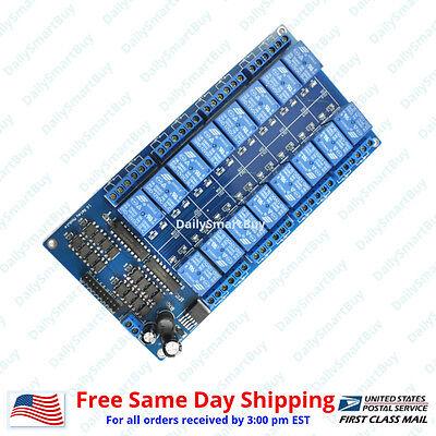 16 Channel 12v Relay Shield Module Board For Arduino Raspberry Pi Arm Avr Cn