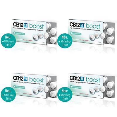 CB12 boost Eukalyptus Kaugummi 4x10St mit Whitening Effekt gegen Mundgeruch NEU