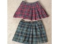 2x tartan skirts 10