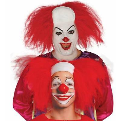 Horror Killer Clown Glatzköpfig Kopfbedeckung & Perücke It - Pennywise Clown Perücke
