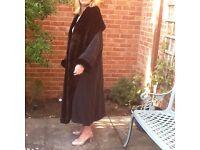Vintage coat Nicole Farhe, with fur trim sleeve