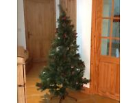6ft christmas tree with cone and berry