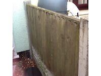 4 feather edge fence panels