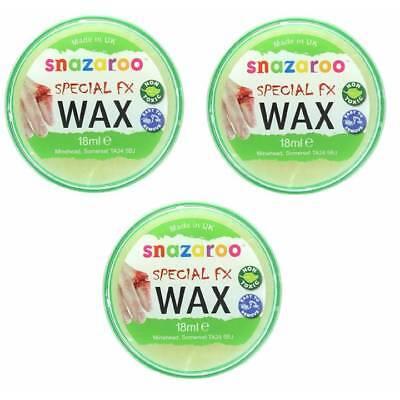 3 x 18ml Snazaroo Wax Wounds Halloween FX Moulding Scars - Fx Wax Halloween
