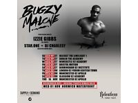 2 Standing tickets for Bugzy Malone - November 5th