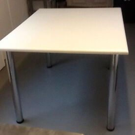 table top with 4 chrome legs.