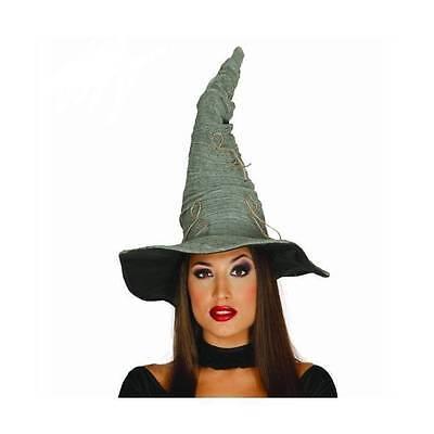 Deluxe Grau Hexenhut Zauberer Halloween Erwachsene Kostüm Zubehör Kostüm