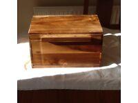 Bread Bin.Wooden bread bin size 37cm long x 19cm deep x 20cm high.Hardly used.Only £8