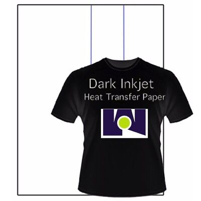 Inkjet Iron On Transfer Paper For Dark Fabrics 8.5 X 11 1 Sheet