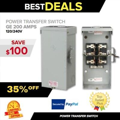 Transfer Switch Ge 200 Amps 120240v Manual Portable Generator Fast Ship