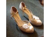2 x Ladies Satin Shoes (Sizes 3 & 5) - £3 each pair