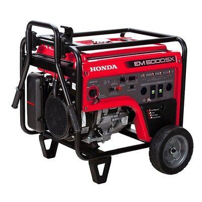 Honda Deluxe 5000 Watt Generator Iavr Pn Em5000sxk31 - Free Cover Included
