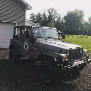 2001 Jeep Wrangler TJ a vendre ou échanger