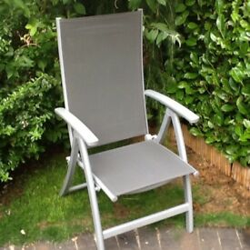Recllining Patio Chairs ( grey) x 4