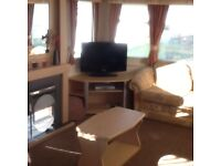 Six berth static caravan available in coulmore bay jus outside Inverness from 200 per week