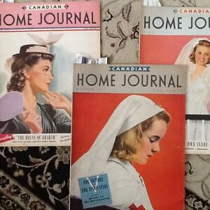Vintage CANADIAN HOME JOURNAL Magazines -3 from 1941 - Excellent