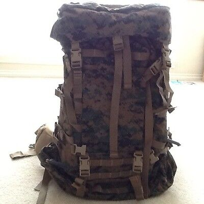 NEW USMC GEN 2 MARPAT TAN WOODLAND ILBE MAIN PACK W LID BELT COMPLETE ARCYTERYX - $195.00