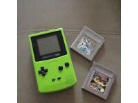 Gameboy colour with Pokemon silver