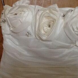 Ivory satin wedding dress + many extras