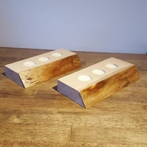 Hand Crafted Live Edge Tea Light Holders (Maple) London Ontario image 2