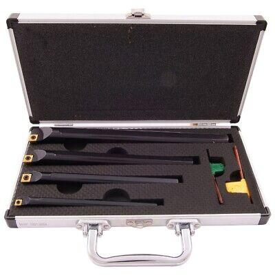 4 Piece 38-12-58 34 Sclcr Indexable Boring Bar Set 1001-0054