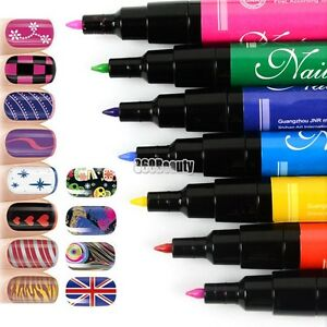 Nail-Art-Pen-Painting-Design-Tool-Drawing-for-UV-Gel-Polish-12-color-Wholesale-T