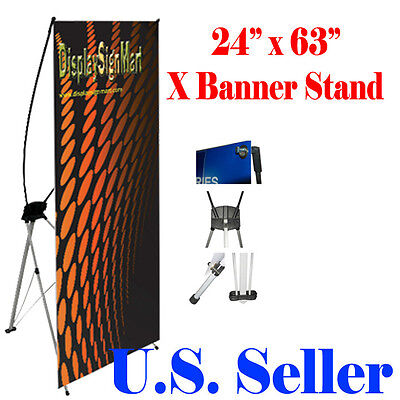 X Banner Stand 24 X 63 W Free Bag  Trade Show Display Banner X-banner