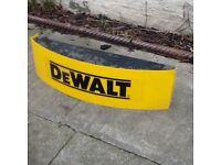 Large Metal Dewalt Shop Display Tool Sign