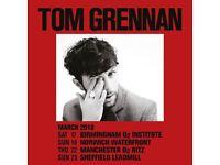 Tom Grennan tickets x 2 Glasgow 23rd March