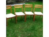 Set of 4 Beech Dining Chairs