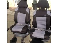 X2 van seats with seat belts and runners to fix to floor £50