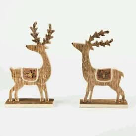 Wooden copper Reindeers
