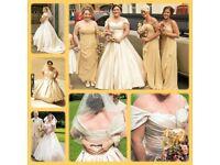 Beautiful champagne gold wedding dress 14/16
