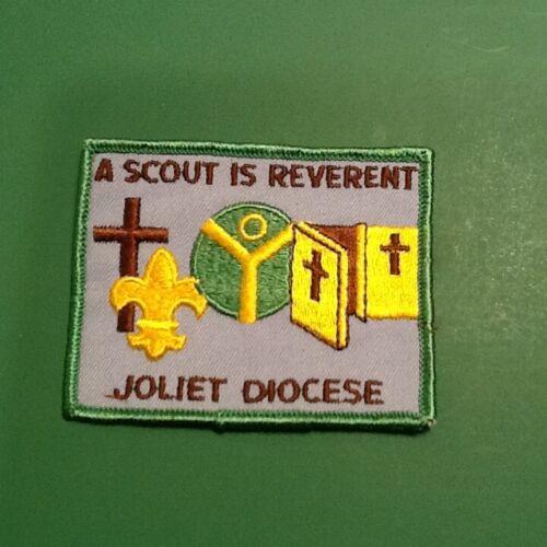 "JOLIET DIOCESE / "" A SCOUT IS REVERENT "" patch - Boy Scout BSA A133/9-28"