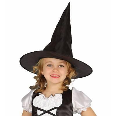 Niña Sombrero de Bruja Malvada sobre Escoba Halloween Carnaval Disfraz Infantil