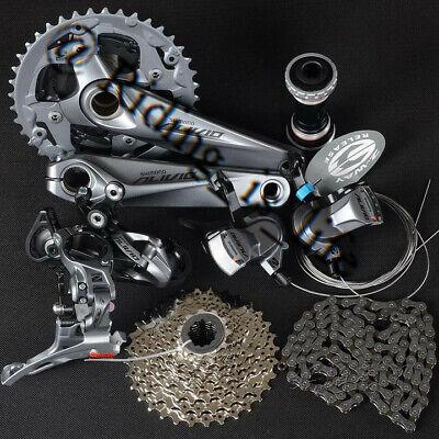 Mountain Bike Chain Sets - Brand New SHIMANO Mountain Bike ALIVIO M4000 Group Set 3x9/27 Speed 7 pcs Gray