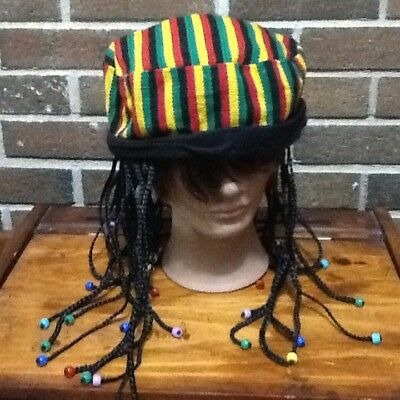 Reggae Cap, Dreads and Beads OSFM EUC
