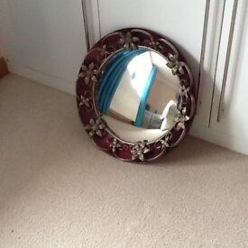 Vintage round fish eye mirror
