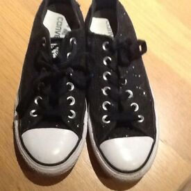 Sparkly converse size5