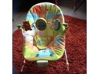 Animal print bouncy chair