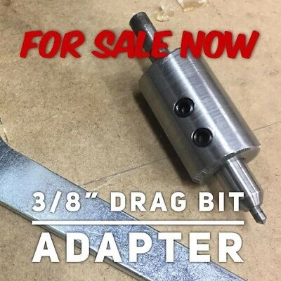 Diamond Drag Bit Adapter For 14 Inch Router To Use 38 Inch Drag Bit.