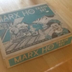1960s Marx Ho train set in box