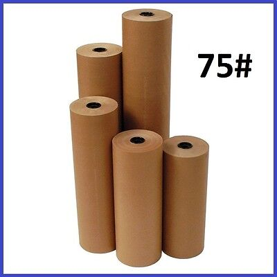 75 Wt. Kraft Brown 475 Roll Shipping Wrapping Void Fill Paper - 6 Sizes Avail.
