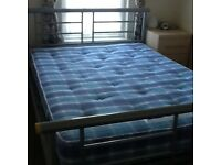 Double bed and Slumberland mattress CLEARANCE PRICE