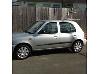 Nissan micra 1.0se automatic 5door air conditioning remote central locking on key in silver ser-hist